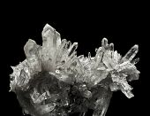 stock photo of quartz  - classic quartz crystals - JPG