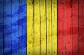 foto of chad  - Chad flag painted on wooden boards - JPG