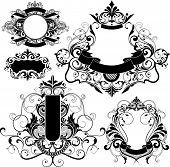 floral design elements poster