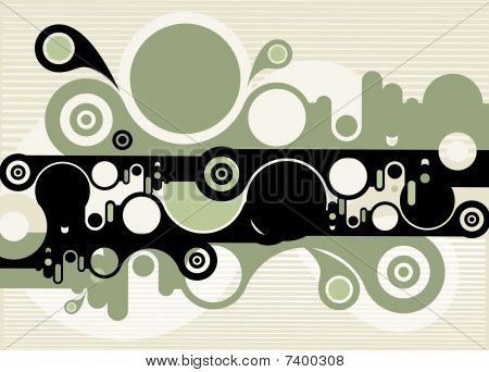 Abstract Green Circular Background