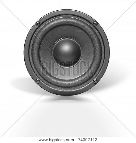 Audio Speaker On White