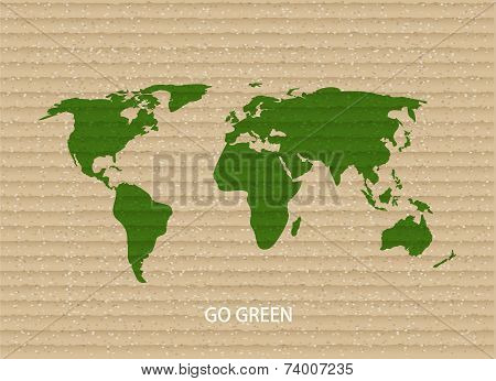 Vector modern go green background.