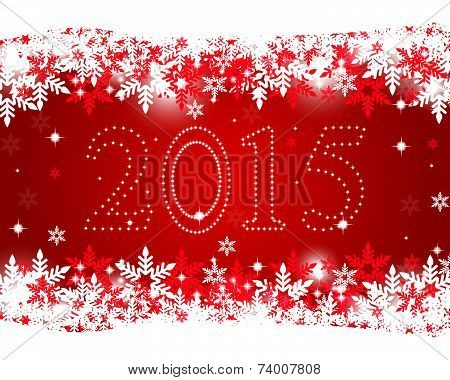 New Year 2015 on a red background