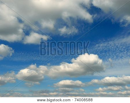 blue sky with beautiful clouds