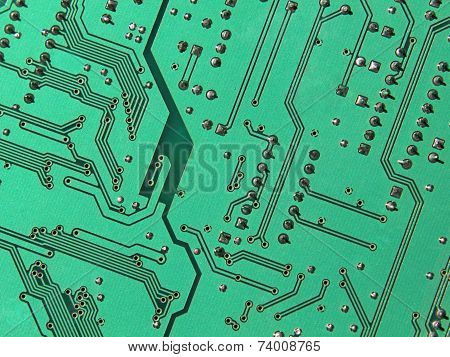 Green Electronic Microcircuit.