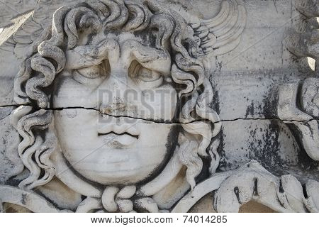 Medusa Gorgon In Apollo Temple, Didyma, Turkey, 2014