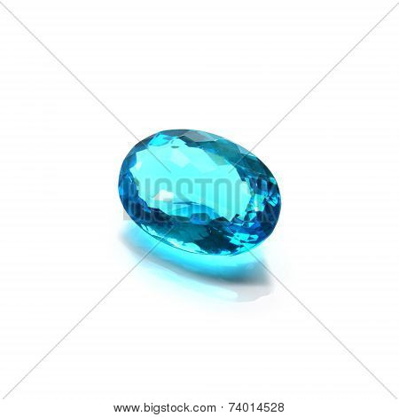 Blue Topaz Oval Shape