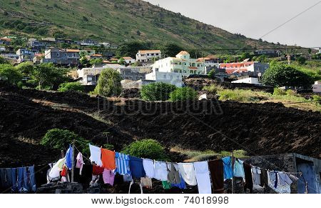 Clothes Dry In The Sun In The Town Of Relva