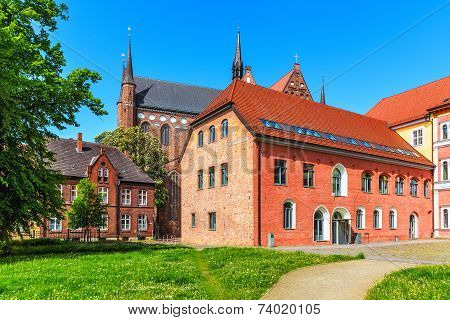 Ancient architecture in Wismar, Germany