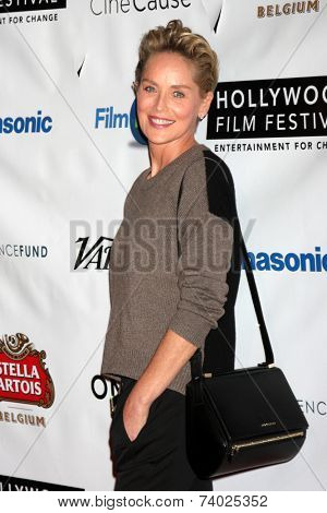 LOS ANGELES - OCT 16:  Sharon Stone at the 18th Annual Hollywood Film Festival Opening Night at ArcLight Hollywood Theaters on October 16, 2014 in Los Angeles, CA