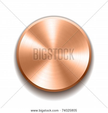 Realistic metal button