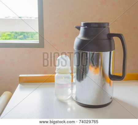 Thermos And Bottle Milk
