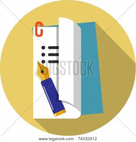 Vector Document Flat Icon