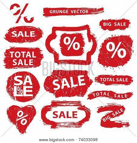 Sale.Grunge Stamps,badges,label,banners set