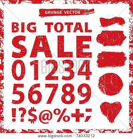 Sale set .Grunge figures,Stamps,badges,frame
