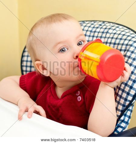 Baby With Cup