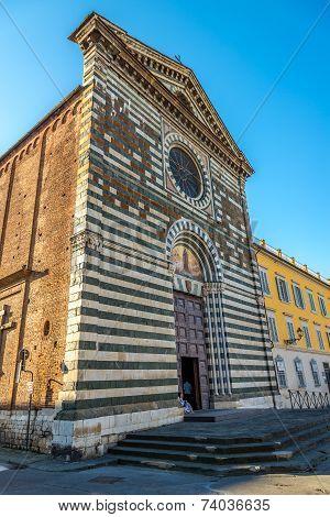 Facade Of San Francesco Church In Prato