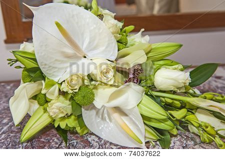 Brides Bouquet Bunch Of Flowers