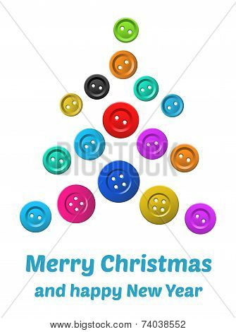 Vector white Christmas Card