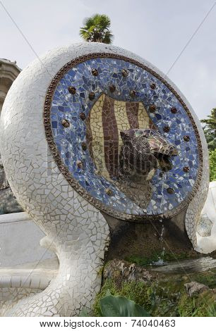Fountain In The Park Guell