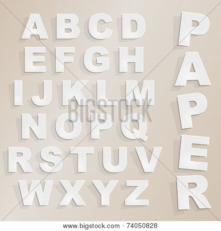 Vector Paper Cut Alphabet