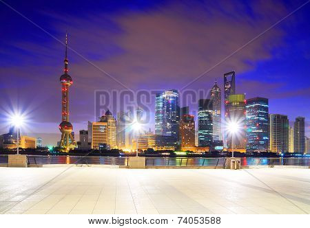 Shanghai landmark at bund skyline