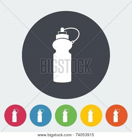 Sports water bottle icon.