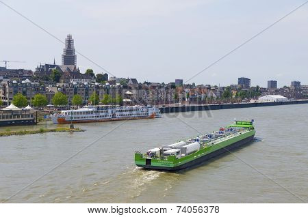 Tanker On River