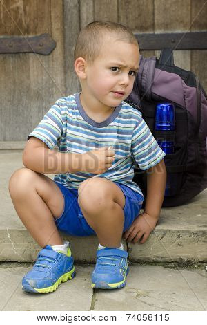 Child Snacking On Trip