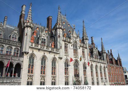 Side View Of The Provinciaal Hof (bruges, Belgium)