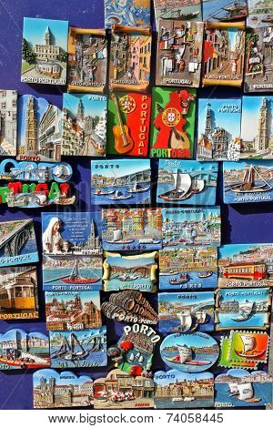 Souvenir Magnets In Porto