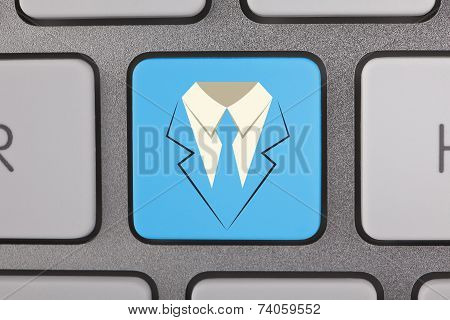 Businessman Contact Us Button