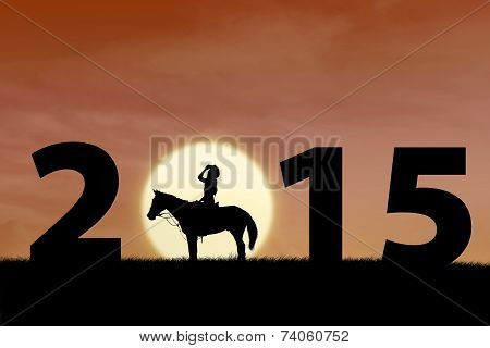 Silhouette Of Horse Rider