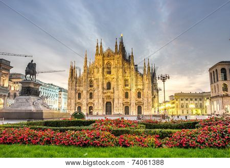The Beautiful Duomo In Milan, Italy