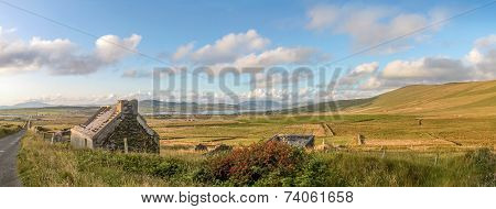 Pasture Landscape And Ruin Near Portmagee