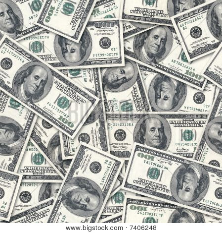 Dollars Seamless Background.