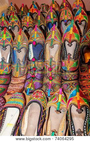 Traditional Shoes Of Rajasthan Called Jutti For Sale