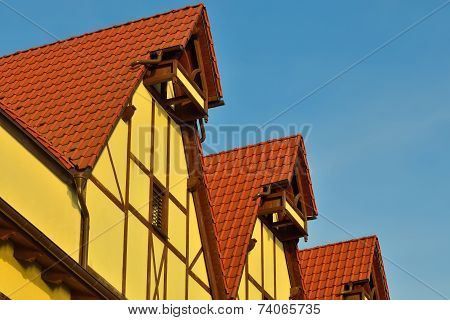 Fishing Village - Stylization German Architecture 19Th Century. Kaliningrad (until 1946 Koenigsberg)