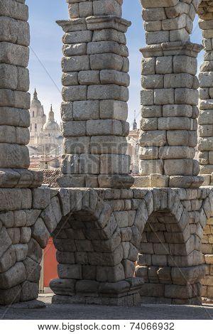 The Ancient  Aqueduct Segovia, Spain