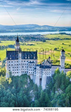 Neuschwanstein Castle And River Lech