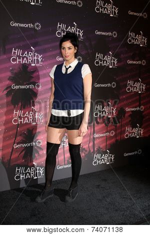 LOS ANGELES - OCT 17:  Sarah Silverman at the Hilarity for Charity Benefit for Alzheimer's Association at Hollywood Paladium on October 17, 2014 in Los Angeles, CA
