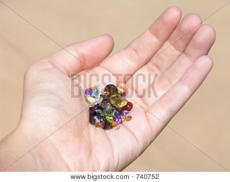 Handful of Gemstones