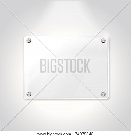 Blank Exhibition Glass Plate