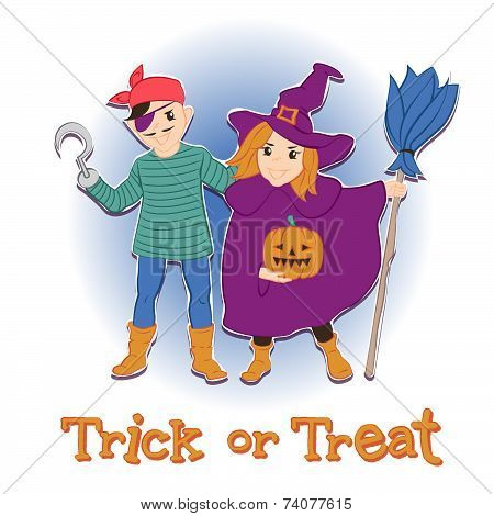 trick or treat. card for 31th October
