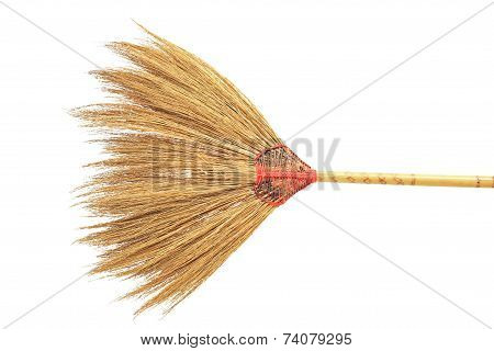 Thai Traditional Broom Isolated On White