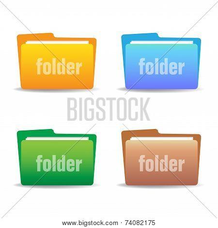Set of four folders