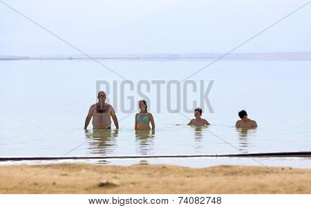 People Standing Sea