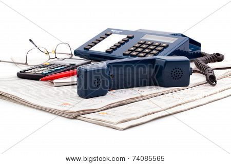 Telephone On A Desk