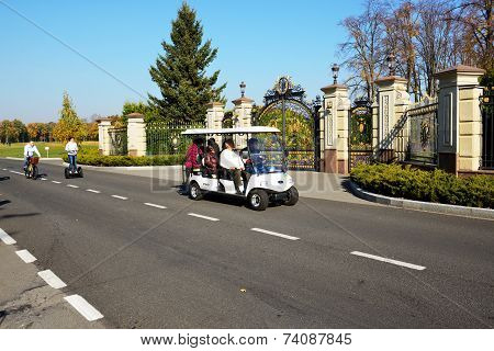 Novi Petrivtsi, Ukraine - October 14: The Tourists Visiting Mezhigirya On October 14, 2014 In Novi P