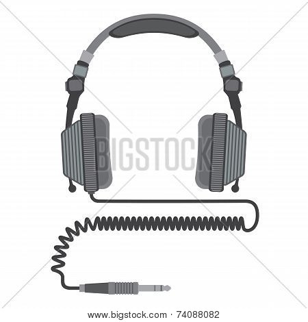 vector dj headphines